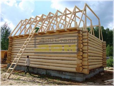 Строительство каркаса ломаной крыши