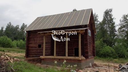 Сруб дома в Сычево