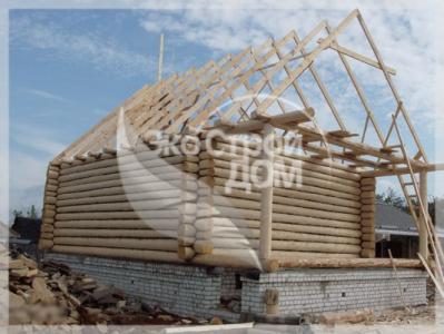 Строительство рубленного дома на ленточном фундаменте