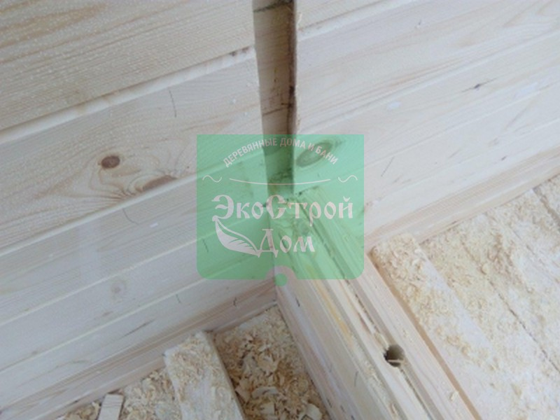 Установка перегородок в доме из профилированного бруса