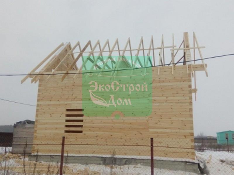 Установка стропил крыши