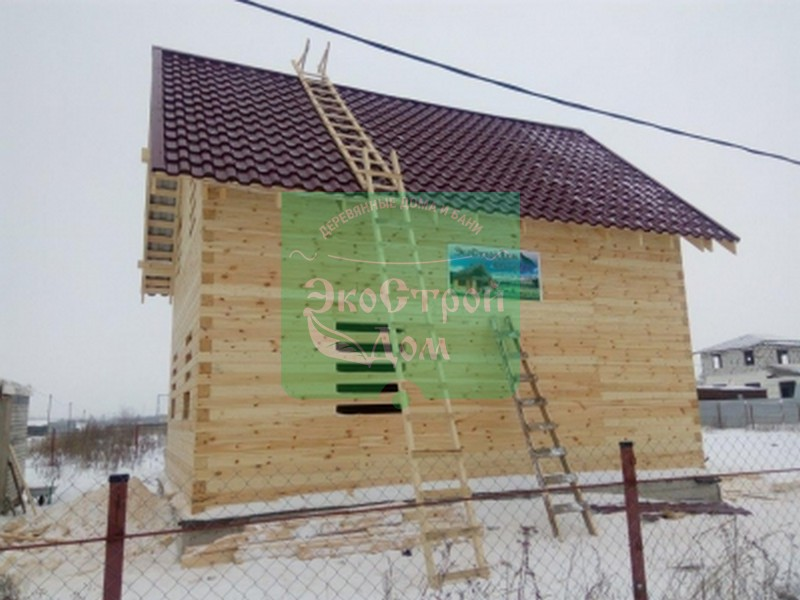 Завершили строительство деревянного дома из профилированного бруса