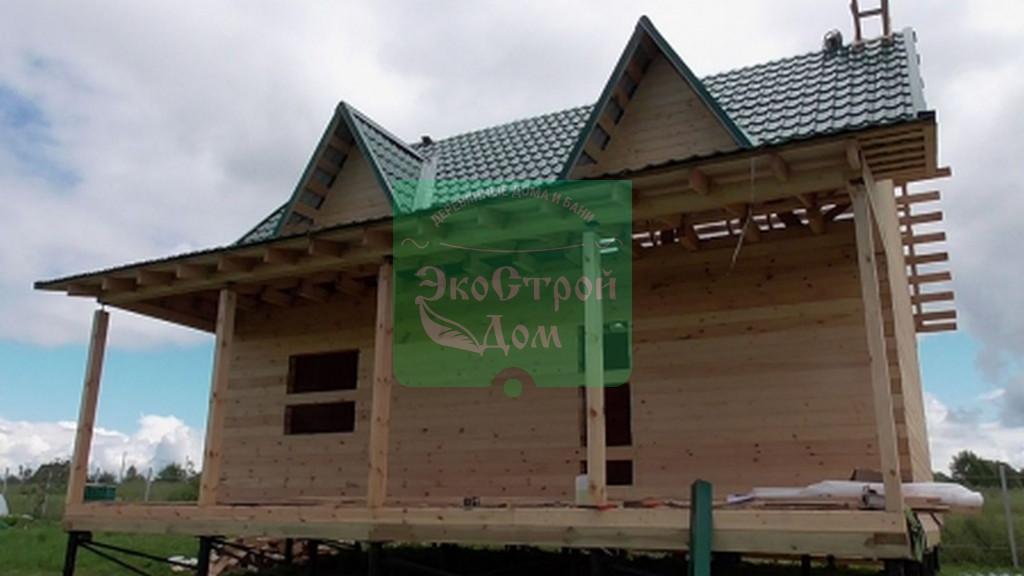 Строительство дома 8х9 из обрезного бруса, Шаховский район, МО