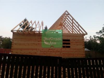 Работа по возведению крыши