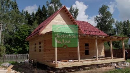 Вид на готовый дом с террасы