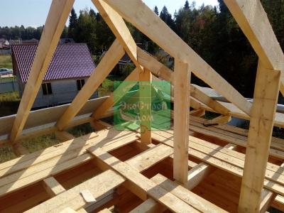 Угол будущей крыши