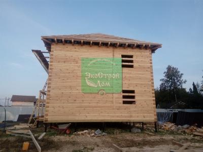 Работы по возведению крыши