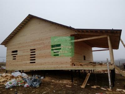 Строительство по проекту заказчика дом 8х9 одноэтажный из профилированного бруса 145х145