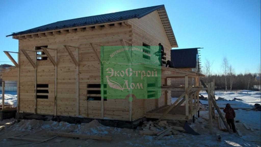 Работы по строительству дома из бруса