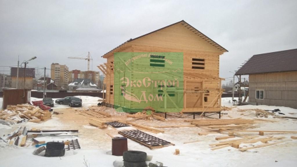 Монтаж крыши над крыльцом