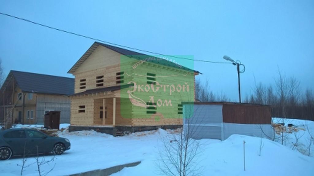 Вид на готовый дом