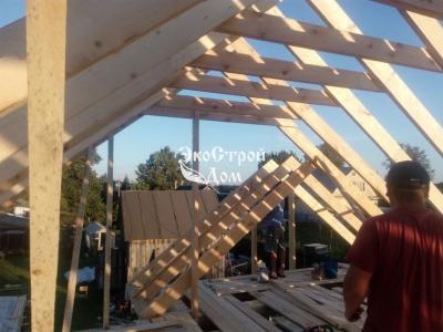 Выгородка каркаса двухскатной крыши