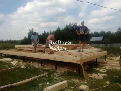 Возводим деревянный ом на свайном фундаменте