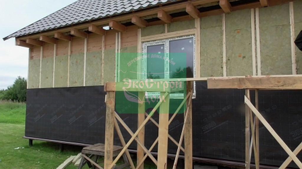 Утепление стен и установка пластиковых окон